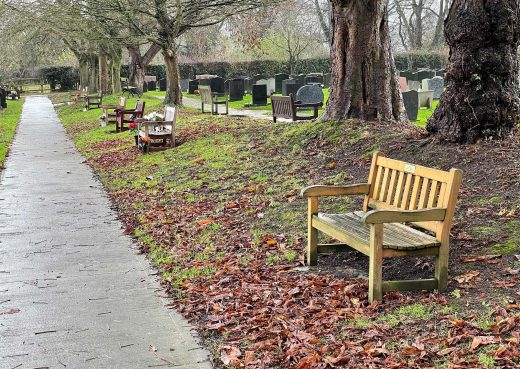 Many of our memorial benches here in Hedon Cemetery