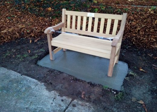 4ft York bench at Hedon Cemetery