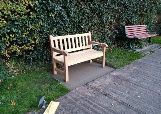 4ft York memorial bench at Hedon Cemetery