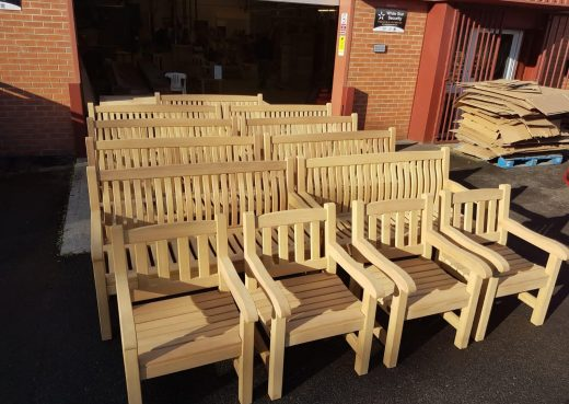 Scarborough Memorial Benches and York Arm Chairs