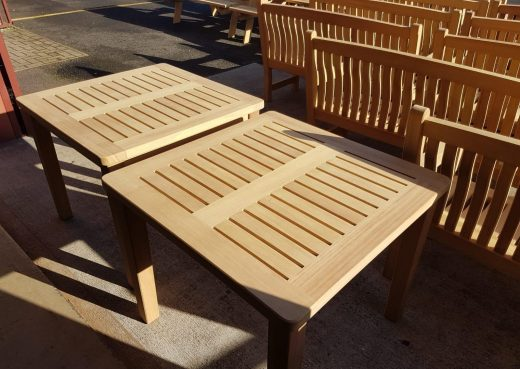 2 Standard Wooden Patio Dining Tables