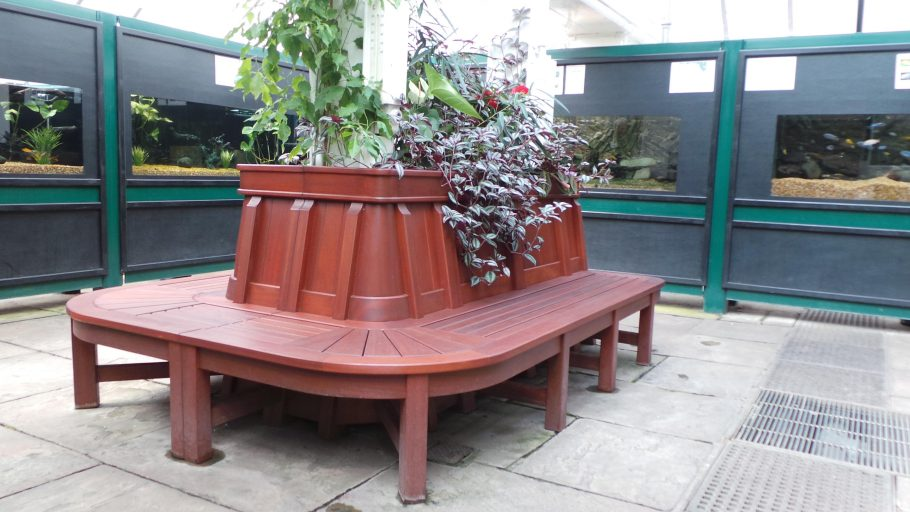Pearson Park bespoke bench and planting system
