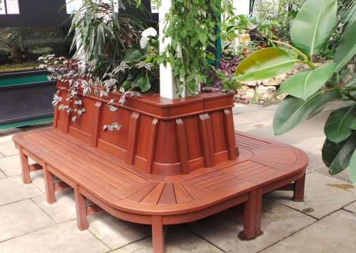 Bespoke bench in hothouse
