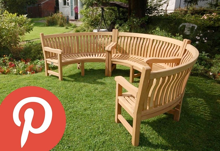 Our Curved Wooden Benches on Pinterest