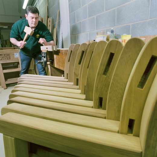 Chiselling out bench joints