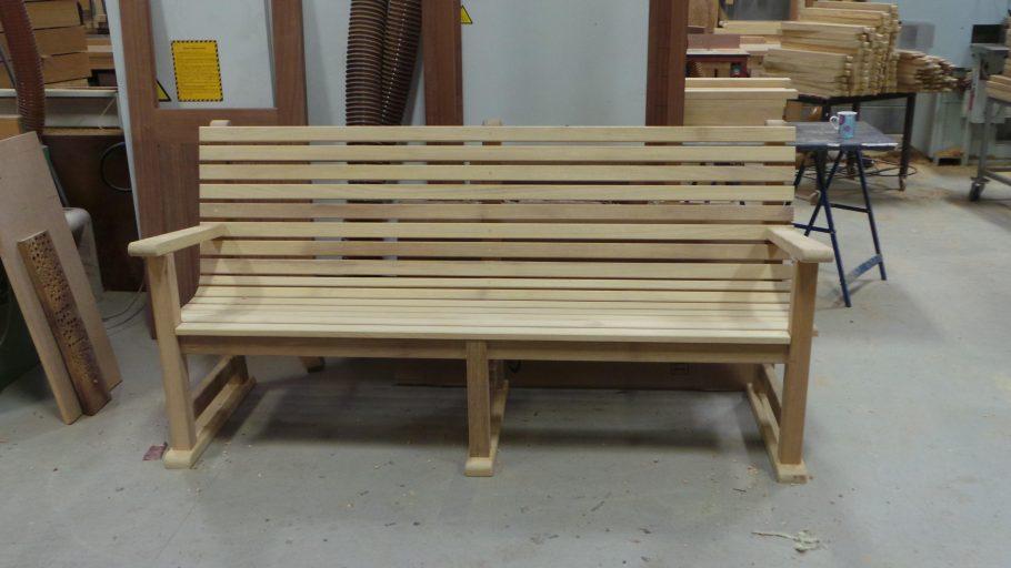 A completed Regent's Park bench