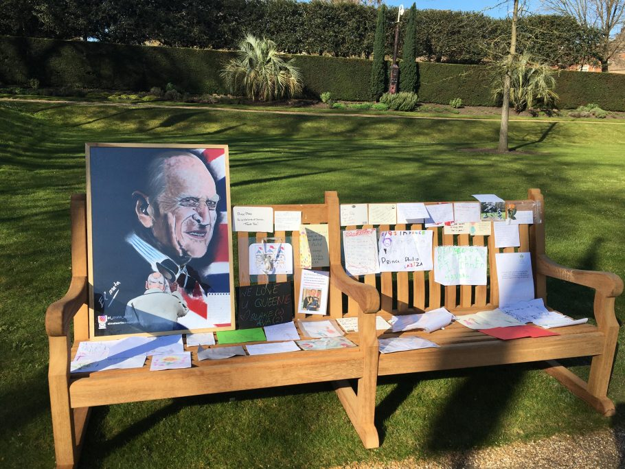Our Regents Park Bench at the Prince Philip Memorial