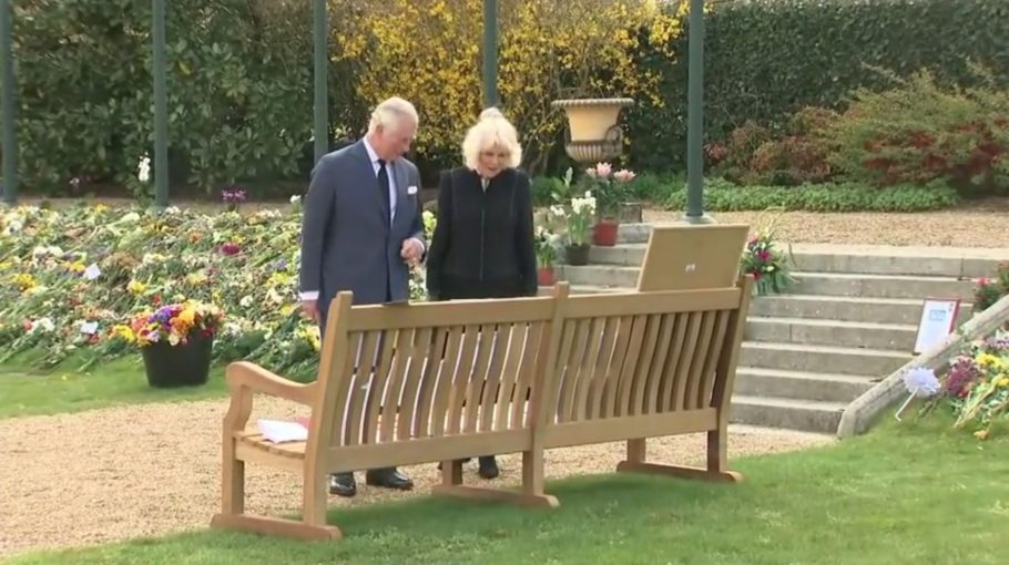 Our bench was spotted at the Prince Philip memorial tribute.