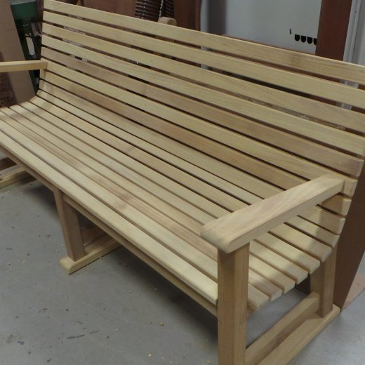 Side view of the Regents Park bench