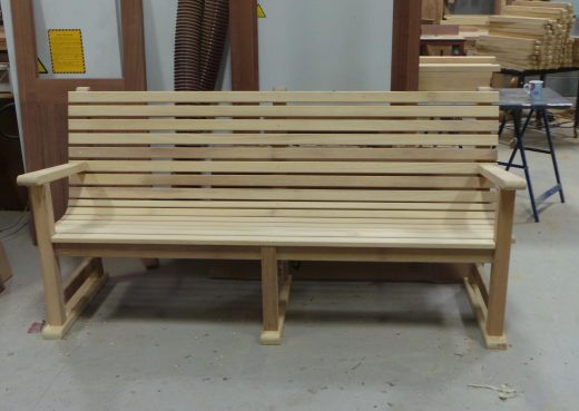 A completed Regent's Park bench