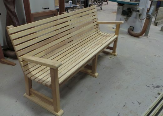 Regents bench being assembled