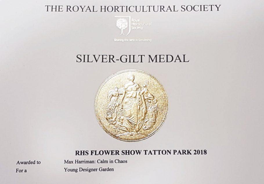 Silver Gilt Medal Winner at RHS Tatton Park 2018