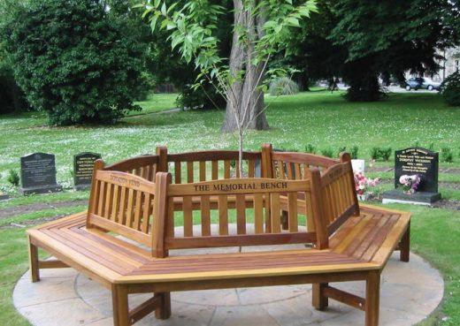 Woodcraft UK tree seat garden bench in Pickering