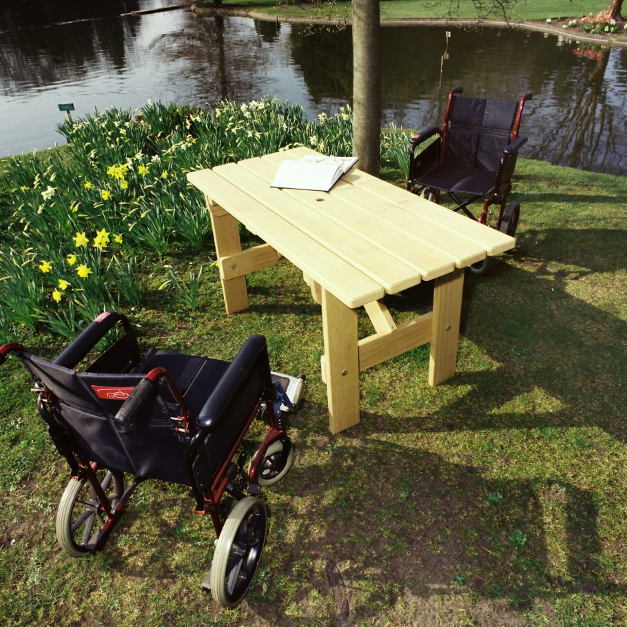 Woodcraft adds wheelchair enabled outdoor tables to list of successful products