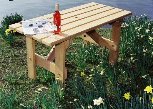 Small bespoke garden table