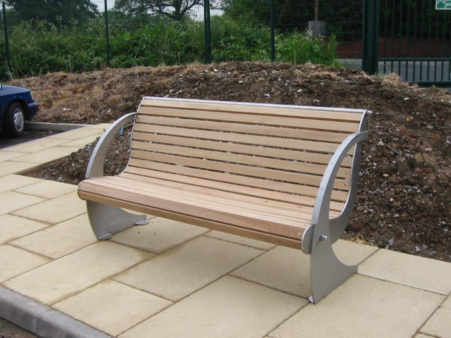 The Spinnaker Bench great for public seating in the urban environment