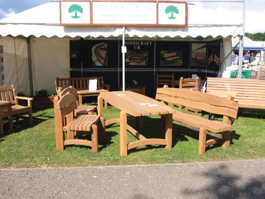 The Waveform bench, chairs and table at the Yorkshire Show