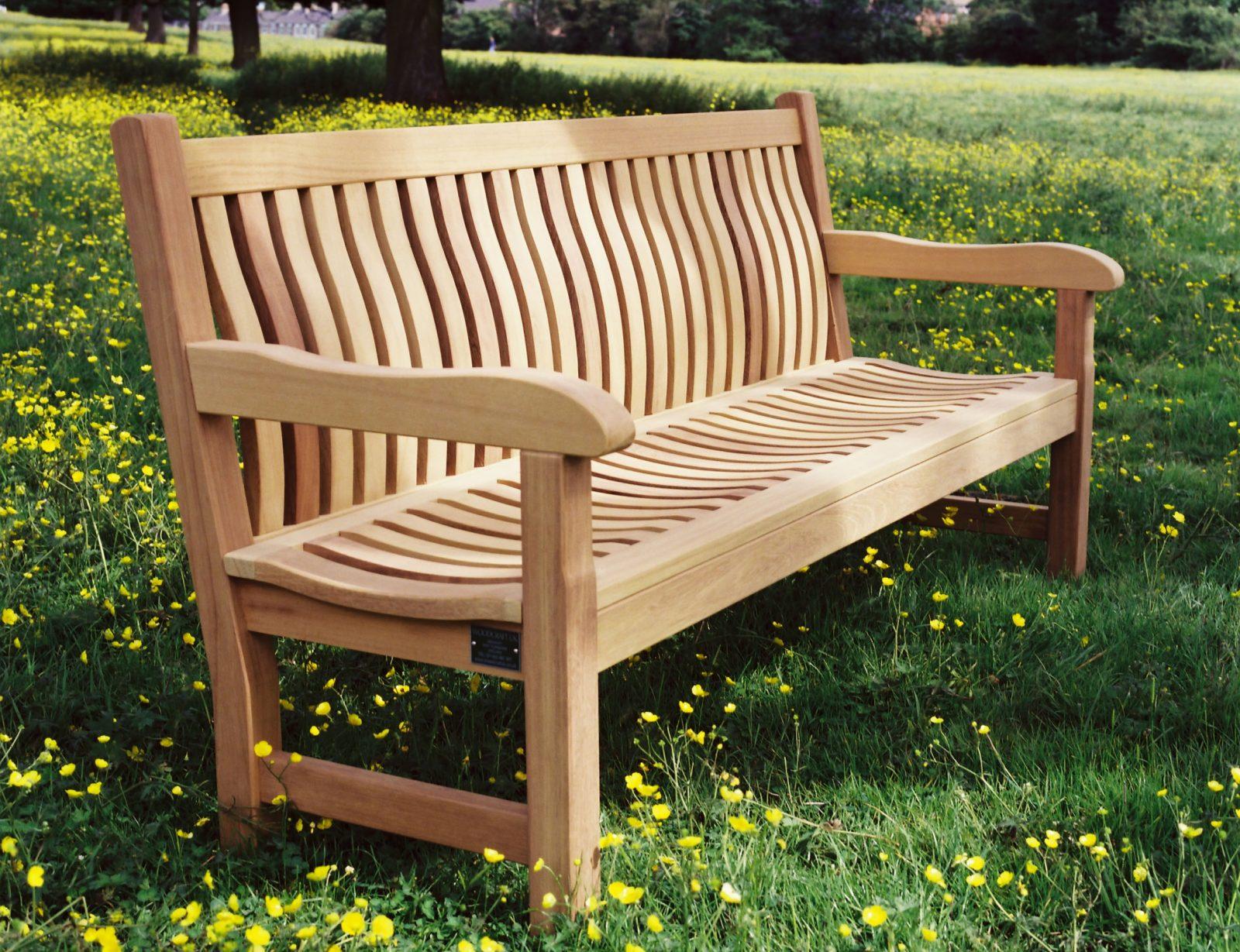 The Scarborough Wooden Garden Bench and Memorial Seat ...