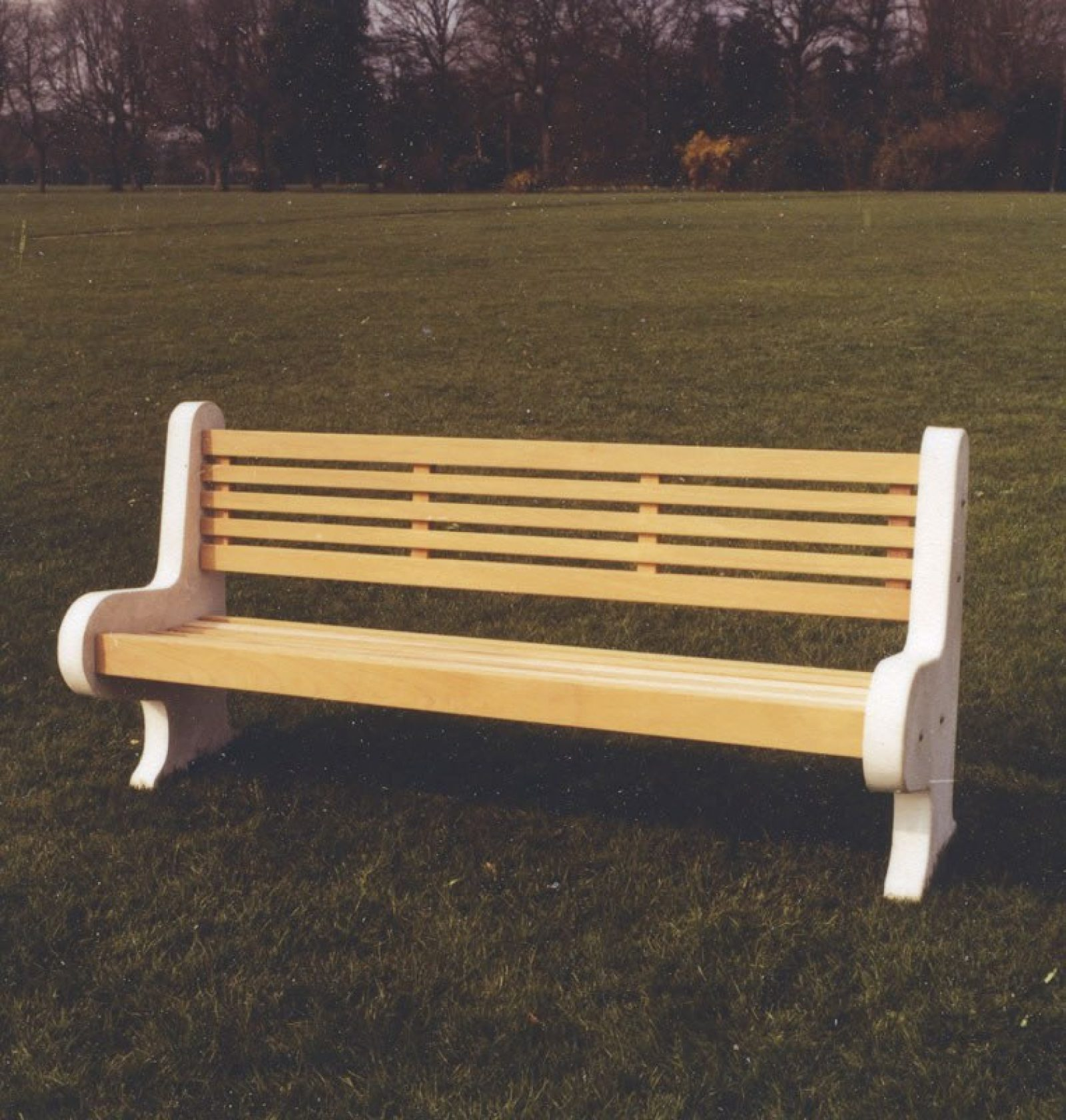 Cool 6Ft Lastingham Wooden And Concrete Park Bench Woodcraft Uk Customarchery Wood Chair Design Ideas Customarcherynet