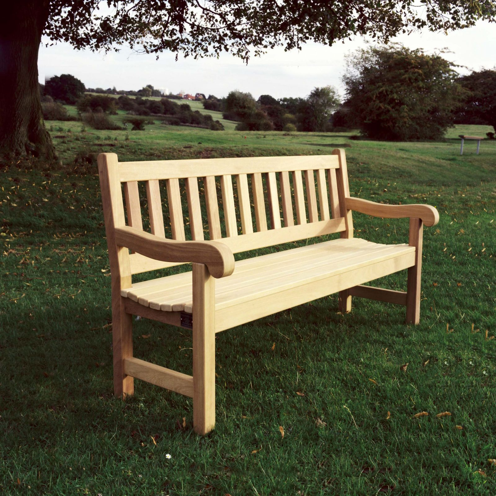 Mendip 4ft Wooden Memorial Bench and Memorial Seat made in ...