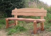 Wooden Waveform bench side view - Click to enlarge