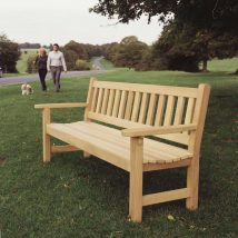 The York garden bench with flat arms - Click to enlarge