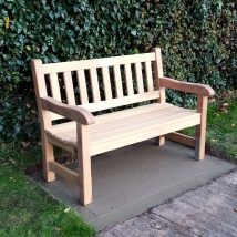 4ft York Bench with contoured arms - Click to enlarge