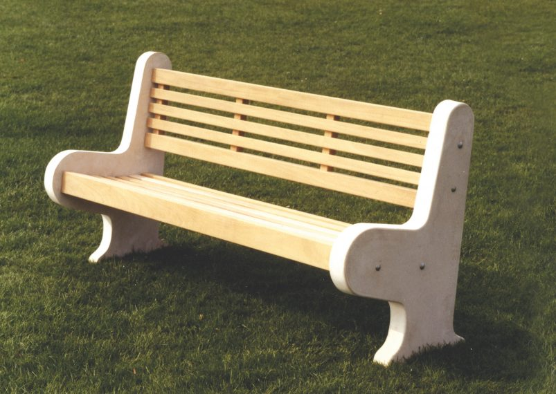 Lastingham Wooden And Concrete Park Bench Woodcraft Uk