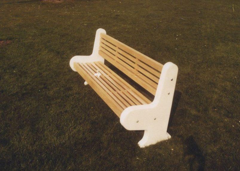 Pleasing Lastingham Wooden And Concrete Park Bench Woodcraft Uk Customarchery Wood Chair Design Ideas Customarcherynet