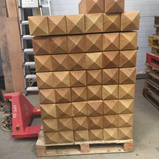 50 timber bollards ready for dispatch