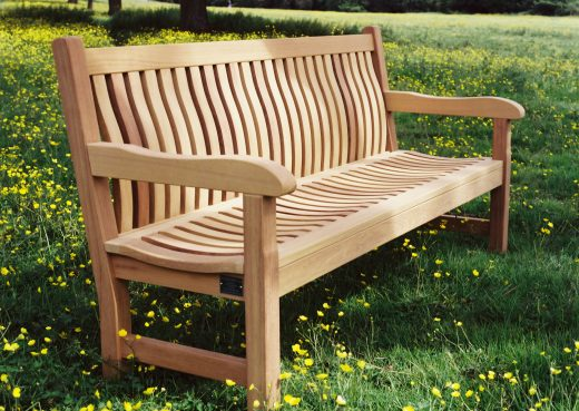 Side view of the Scarborough bench