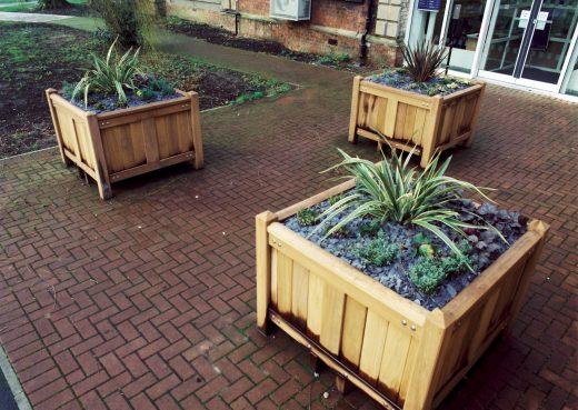 Heavy duty bespoke patio planters