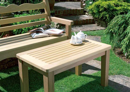 Malton coffee table with Beverley garden bench