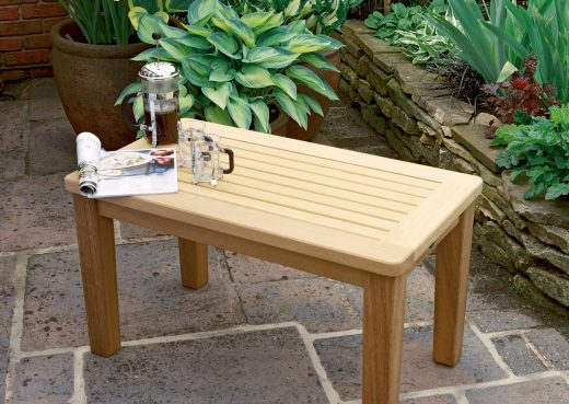 The Malton coffee table ideal for patios