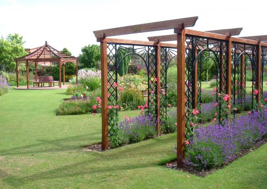 An original pergola by Woodcraft UK at Burnby Hall Gardens, Pocklington.