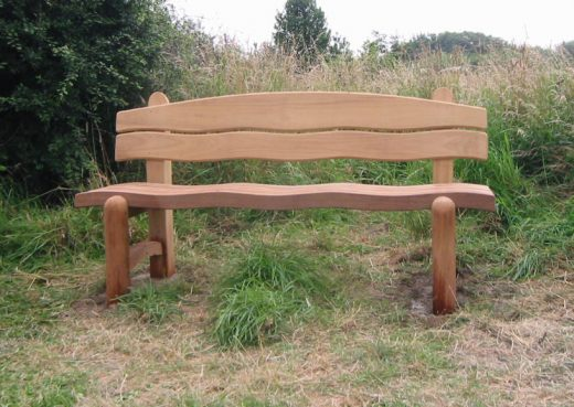The Waveform 6ft Garden Bench