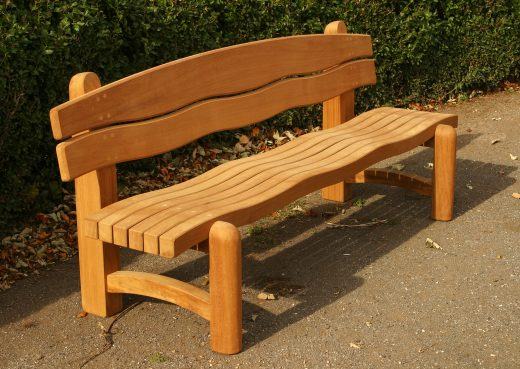 The Waveform 7ft Garden Bench