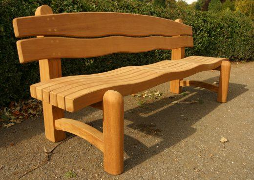 Large Waveform garden bench