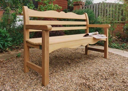 Side view of the Beverley Bench