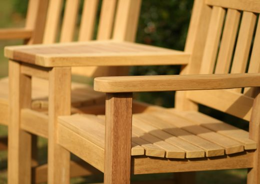 Close up of Helmsley garden chair set