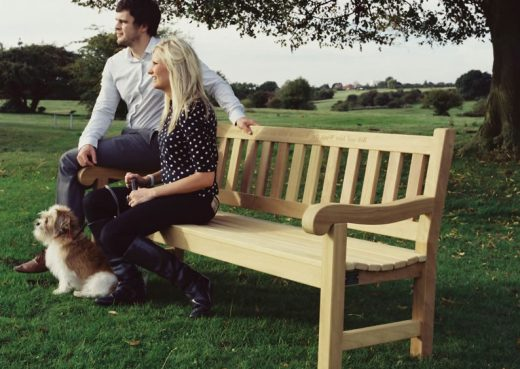 A Mendip Bench from our traditional garden bench range.