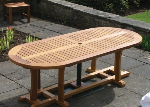 The Wetherby oval garden table
