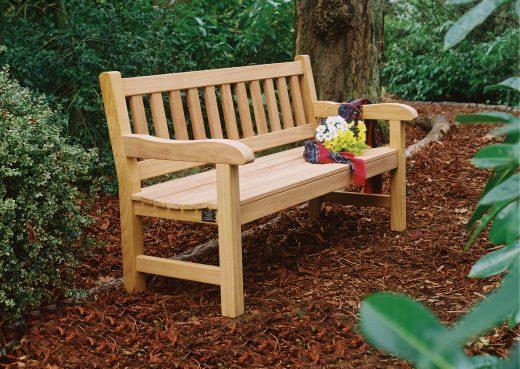 The York wooden garden bench