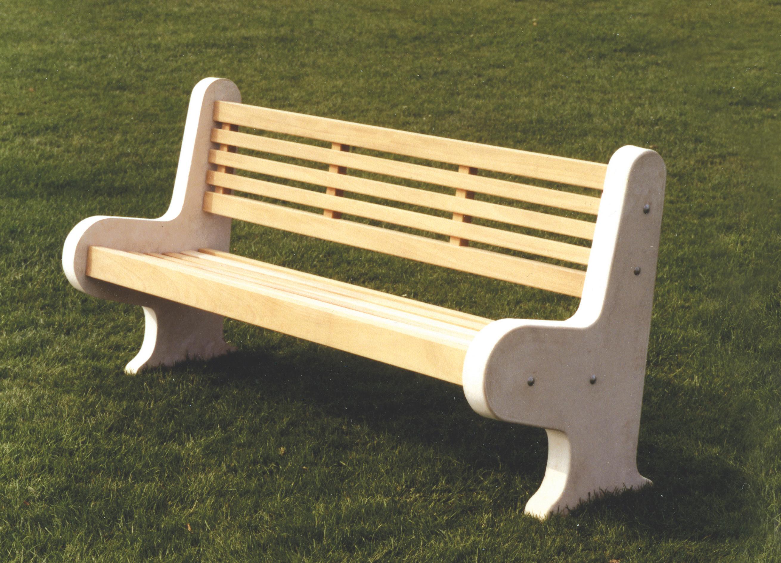 Lastingham Wooden and Concrete Park Bench