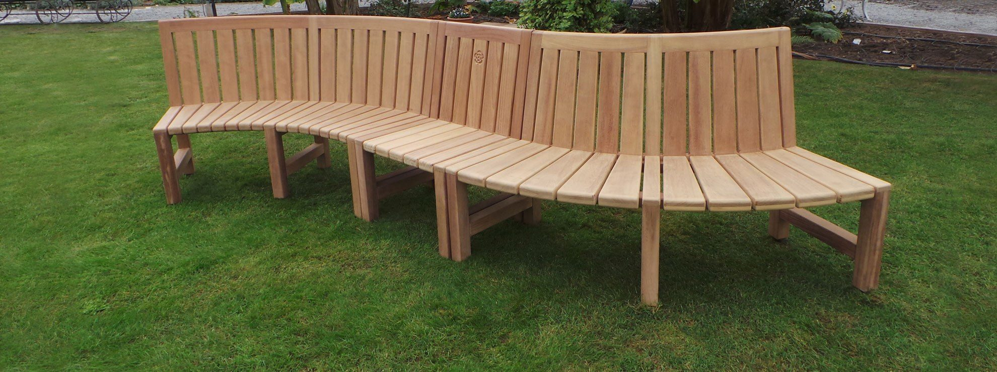 Curved Wooden Garden Benches Handcrafted In Yorkshire Woodcraft Uk