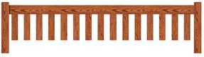 Flat Garden bench top rail option A
