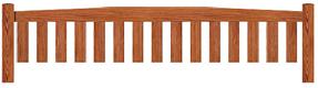 Curved Garden bench top rail option B